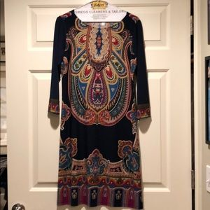 3/4 sleeve shift dress size 6